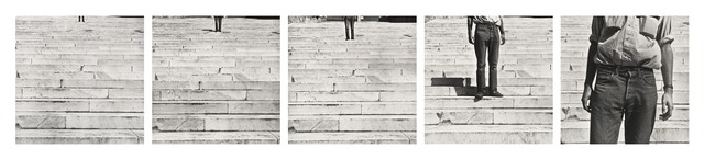 Robert Rauschenberg, 'Cy + Roman Steps (I–V)', 1952; printed ca. 1997, Photography, Suite of five gelatin silver prints, San Francisco Museum of Modern Art (SFMOMA)