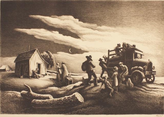, 'Departure of the Joads,' 1939, Aaron Galleries