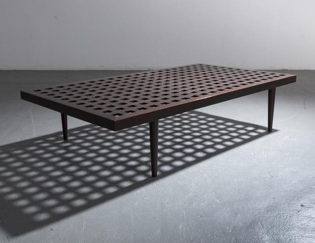 , 'Checkerboard coffee table in ebonized wood.,' ca. 1950, R & Company