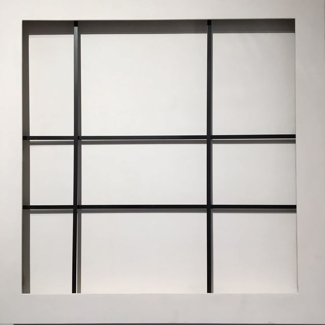 , 'HOMMAGE TO CONSTRUCTIVISM 4 LIGNES N&B ,' 1972, Mark Hachem Gallery