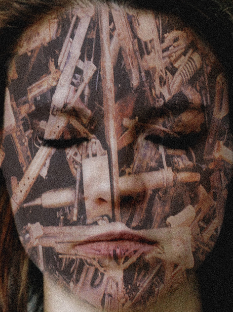 , 'Mask (accumulation d'armes),' , Mark Hachem Gallery