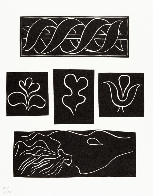 Henri Matisse, 'ORNEMENTS, BANDEAUX ET CULS-DE-LAMPE (Variant XI)', 1944, Print, Original linocut printed in black ink on white Rives wove paper., Christopher-Clark Fine Art