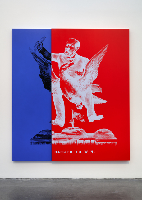 , 'SPIDER-MAN FOR PRESIDENT aka Historical Campaign Poster Painting No.5,' 2015, Nasher Sculpture Center