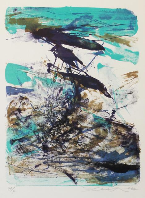Zao Wou-Ki 趙無極, 'Blue and Brown Composition', 1967, MASAHIRO MAKI GALLERY