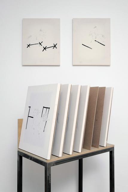 , 'Porta pittura, un cavallo libero uno con ostacolo e un ostacolo,' 2015, P420