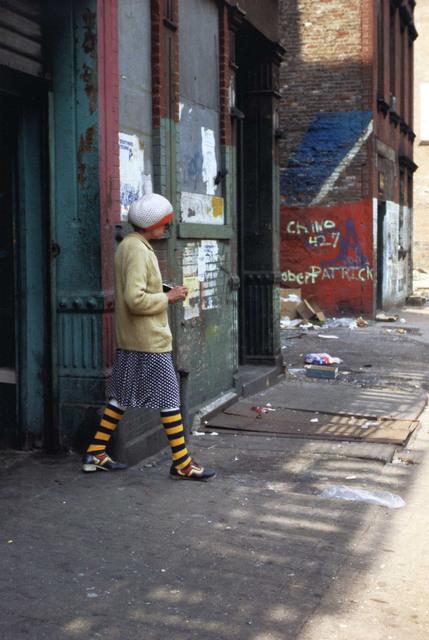 Helen Levitt, 'N.Y.C. (striped socks)', 1990-1999, Laurence Miller Gallery