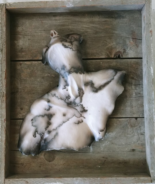 Trish Classe Gianakis, 'Unconscious Bliss', 2019, Sculpture, Raku Fired Ceramic, wood, SHIM Art Network
