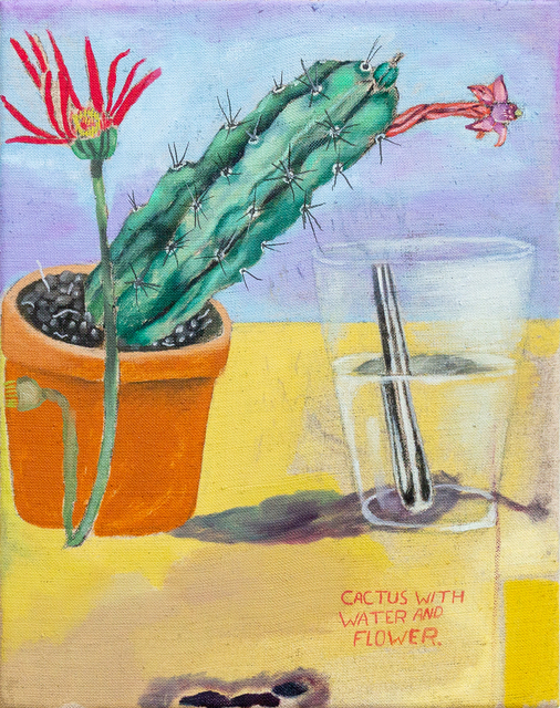 , 'Cactus With Water And Flower,' 2019, Galerie Sébastien Bertrand