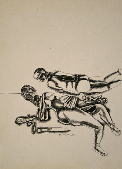 , 'Untitled (Couple With Knife),' 1983, Aicon Gallery
