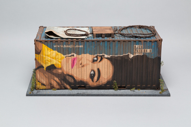 , 'Hanjin Shipping Container (based on Honk Kong docks),' 2016, Muriel Guépin Gallery