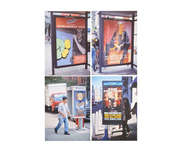 KAWS, 'KAWS x NGV Postcard (Set of 4) (Bus Shelters)', 2019, Print, Paper, Curator Style