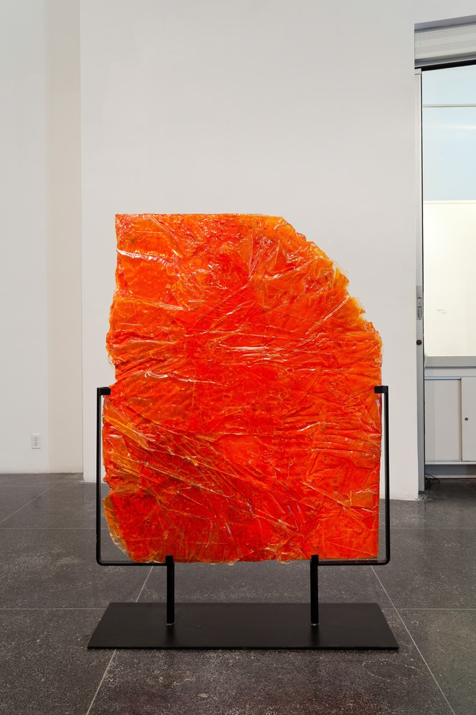 Christina Lei Rodriguez, Divider I, Plastic, epoxy, paint, plexiglas and metal stand, 58 x 41 x 12 inches