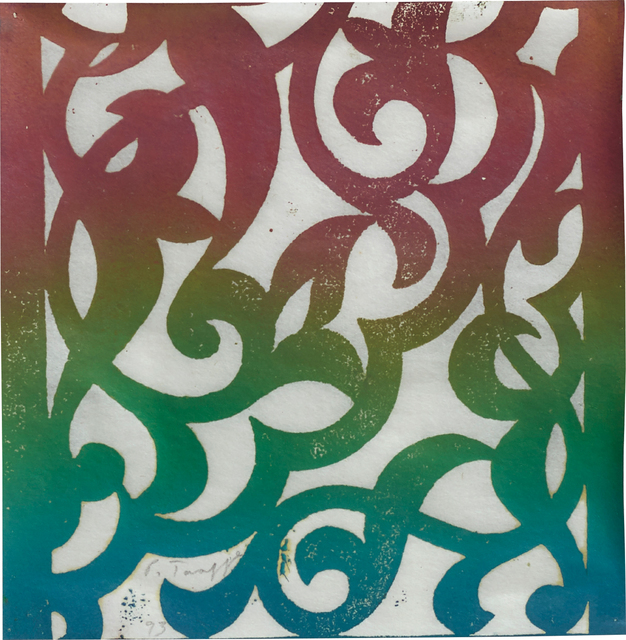 Philip Taaffe, 'Untitled', 1993, Print, Monoprint in colours, on Japanese paper, the full sheet, Phillips