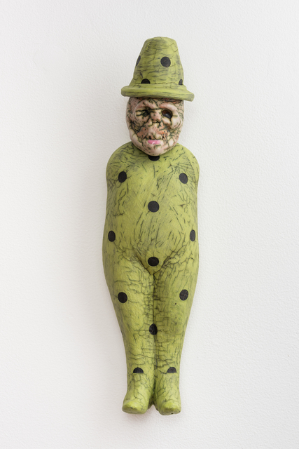 , 'Pea Green Figure with Hat,' 2016, Eutectic Gallery