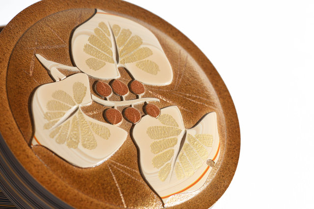 """Otomaru Koudou, 'Layered Lacquer Tea Container """"Maianthemum dilatatum""""  18 0288', ca. 1930~, Sculpture, Lacquer, Yumekoubou Antique"""