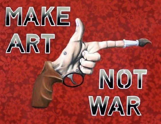Jared Aubel, 'Make Art Not War', 2012-2019, {9} The Gallery