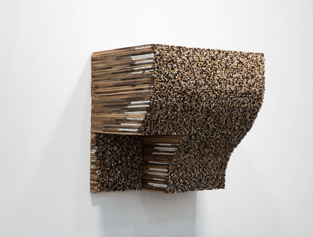 Leonardo Drew, 'Number 133L ', 2015, Wood and paint, Pearl Lam Galleries