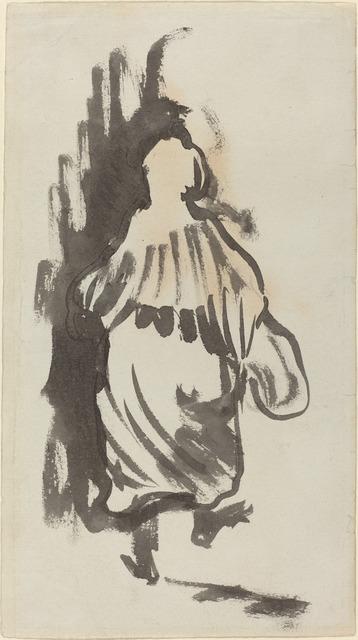 Édouard Vuillard, 'Walking Figure Seen from Behind', ca. 1894, National Gallery of Art, Washington, D.C.