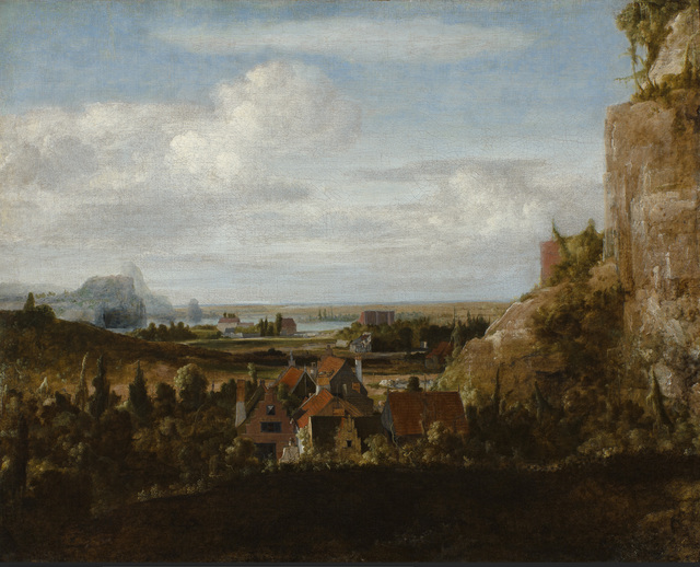 , 'Houses near Steep Cliffs,' , Rijksmuseum