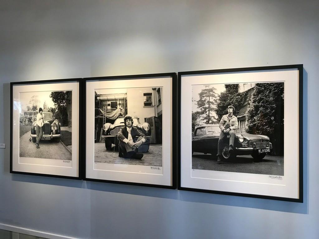 Gered Mankowitz, Keith & Bentley, West Sussex, 1966 Gered Mankowitz, Mick & Aston, London, 1966 Gered Mankowitz, Bill & MGB, London, 1966