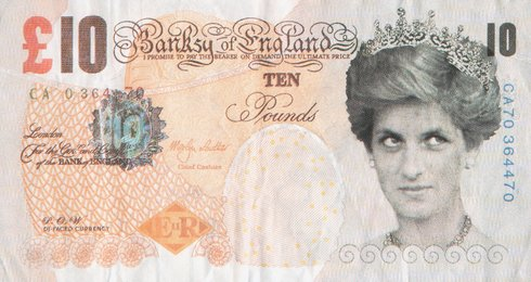Di-Faced Tenner, 10 GBP Note