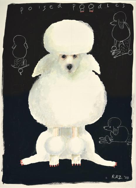 , 'Poised White Poodle,' 2003, Dog & Horse Fine Art