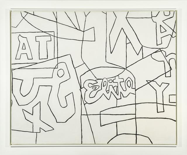 ", 'Untitled (Black and White Variation on ""Pochade""),' 1956-1958, Hirschl & Adler Modern"