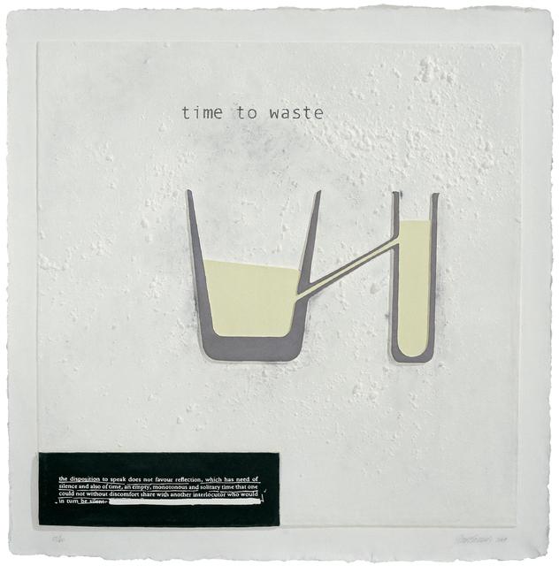 , 'Time to Waste,' 2007, Mixografia