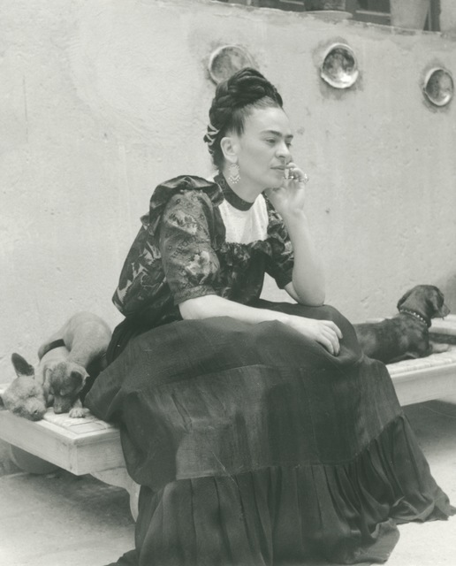 , 'Frida Seated with Dogs,' 1944, Bentley Gallery
