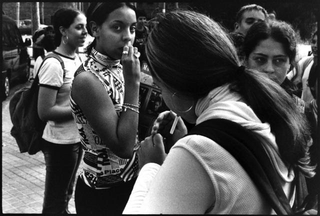 , 'Girl lights cigarette, Barcelona,' , Casemore Kirkeby