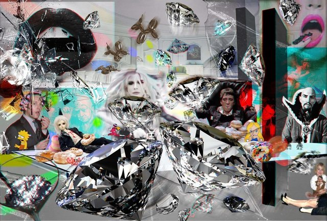 , 'Last supper EP1 after Kubrick & Fellini Sketch in 3D,' 2016, design art concepts