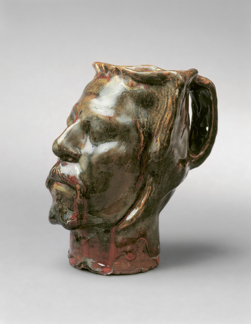 , 'Pot en forme de tête, Autoportrait (Jug in Form of a Head, Self-Portrait Stoneware),' 1889, Fondation Beyeler