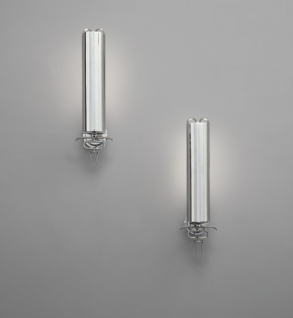 Paolo Buffa, 'Pair of wall lights', circa 1930, Design/Decorative Art, Chromium-plated metal, Phillips