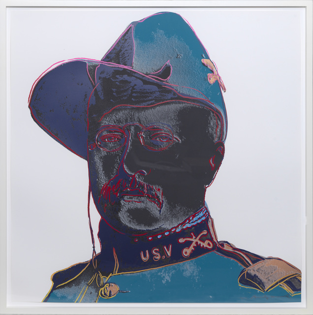 Andy Warhol, 'Teddy Roosevelt', 1986, Print, Screenprint in colours., Sims Reed Gallery