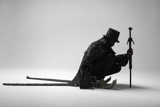 Maurice Mbikayi, 'Black knight Dandy', 2017, Officine dell'Immagine