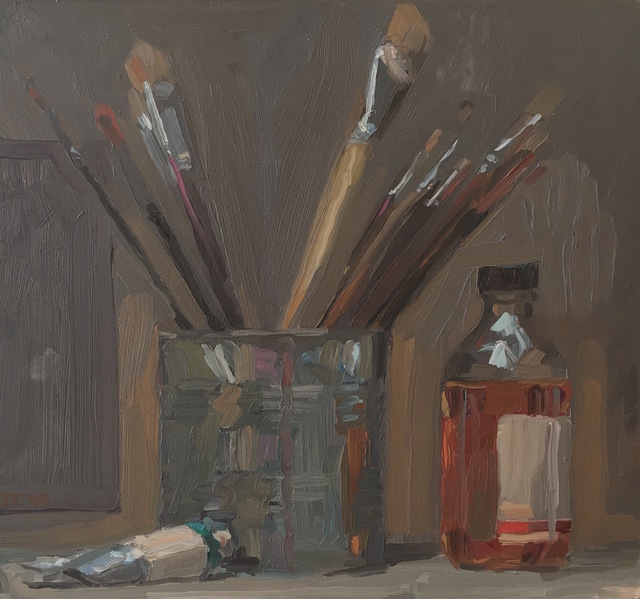 Jacob Collins, 'Paintbrushes in a Can', 1992, Grenning Gallery