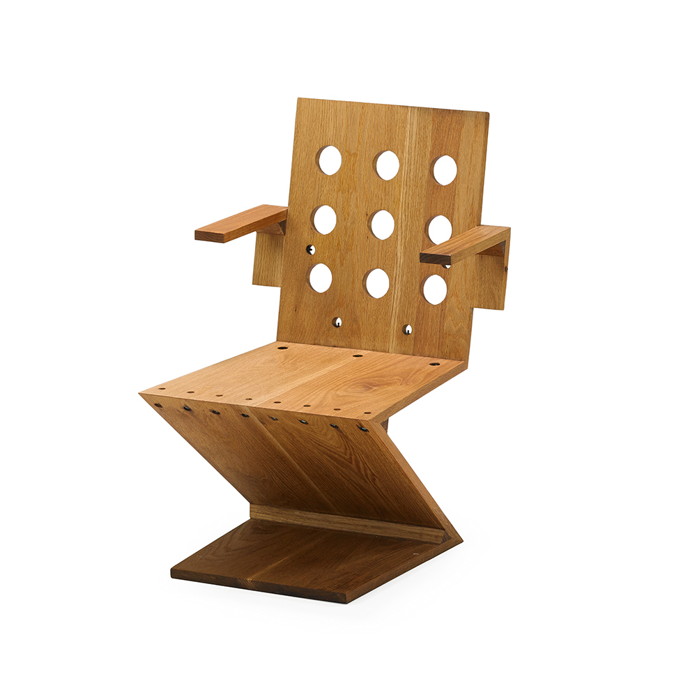 Bon Attributed To Gerrit Rietveld | Zig Zag Chair (1940s) | Artsy