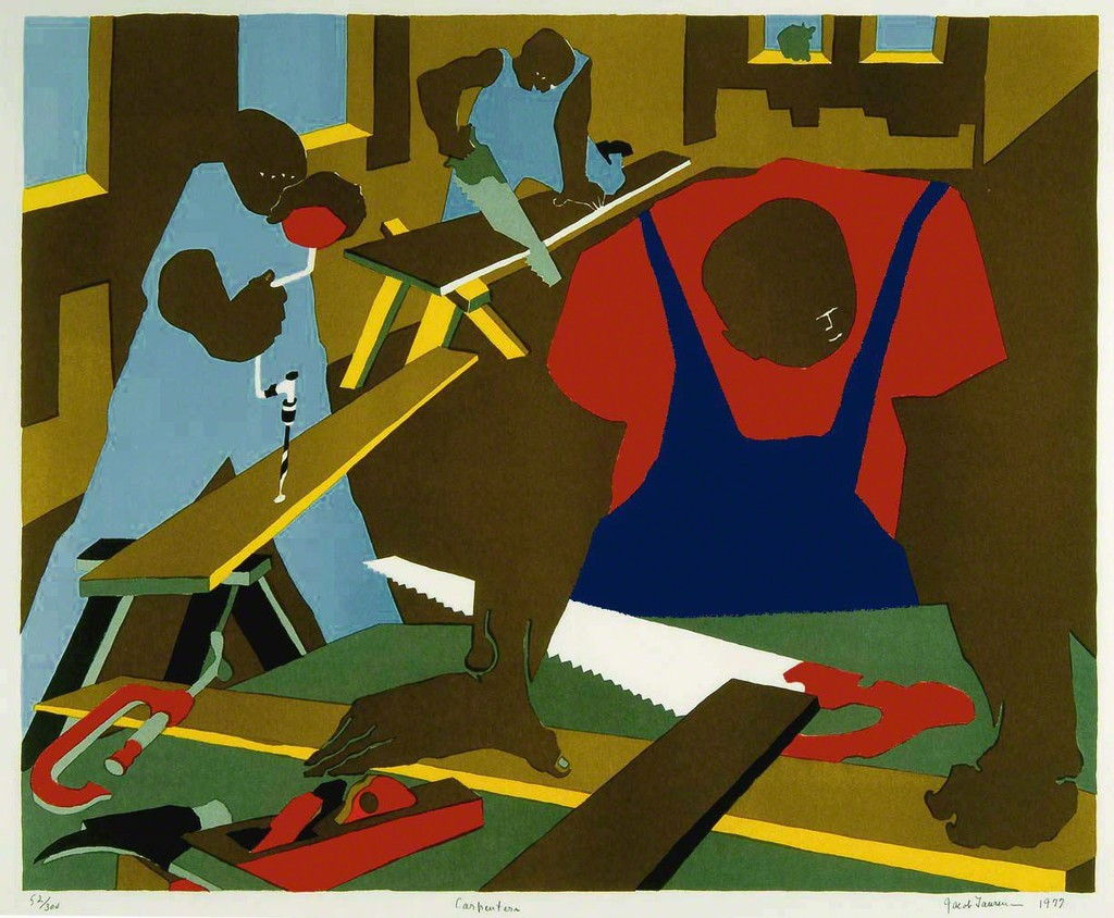 """an introduction to the history of american art jacob lawrence """"jacob lawrence: the migration series,"""" edited by elizabeth hutton turner (phillips collection, 1993), features an introduction by henry louis gates jr and an essay by lonnie bunche, now the director of the smithsonian's forthcoming national museum of african american history and culture."""