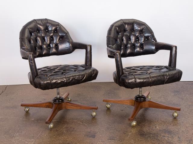 , 'Pair of Dunbar Tufted Swivel Chairs,' ca. 1950, Open Air Modern
