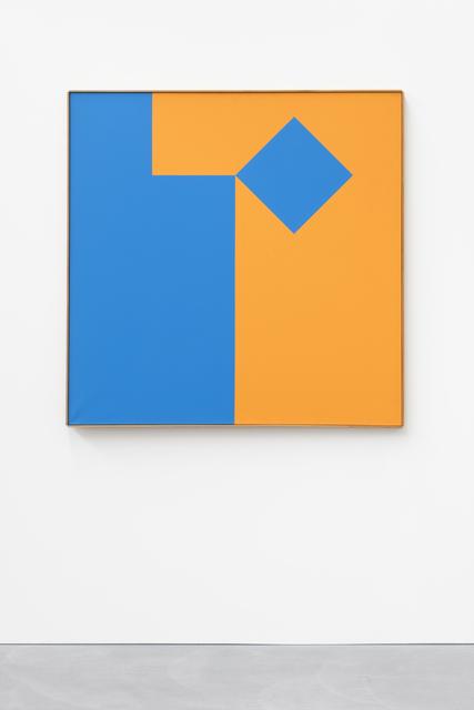 , 'Blau - Orange Volument 1:1, 1/8 blau bewegt,' , von Bartha