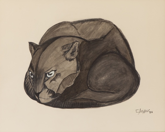 , 'Coiled Black Panther,' 1926, Galerie Dumonteil