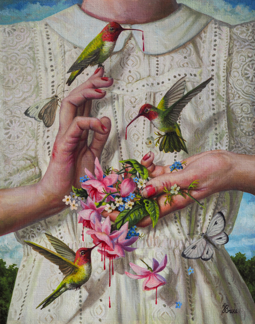 Jana Brike, 'Custodian', 2021, Painting, Ink, acrylic and oil on paper mounted on board, Beinart Gallery