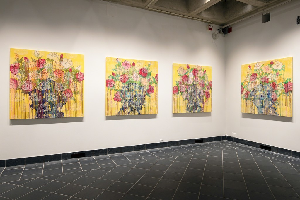 Installation view, Invitation to Paradise at Cantor Fitzgerald Gallery. Photo: Lisa Boughter