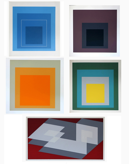 , '24 prints as illustrated in a collection of  5 exhibition catalogues,' 1964-1970, Alternate Projects
