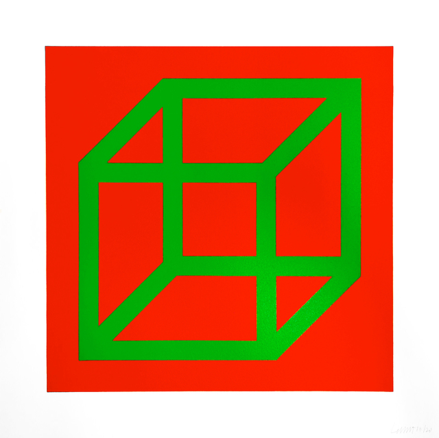 Sol LeWitt, 'Open Cube in Color on Color', 2003, Oliver Clatworthy