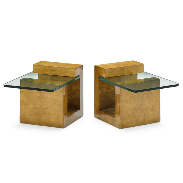 Karl Springer, 'Pair Of End Tables, New York', 1980s, Rago/Wright