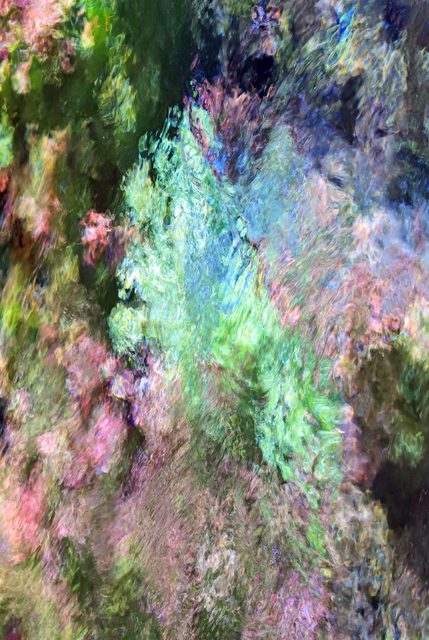 Larry Garmezy, 'Thoughts of Giverny #2b - Abstract / Impressionist Waterscape photography, Rocky Mountains, natural abstraction, water, in green, blue and pink. ', 2018, Archway Gallery