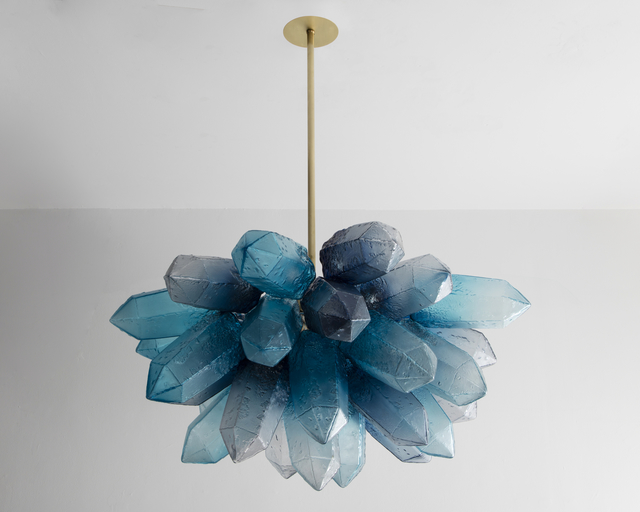 , 'Illuminated Crystal Cluster sculpture in hand-blown blue glass. Designed and made by Jeff Zimmerman, USA, 2016.,' 2016, R & Company