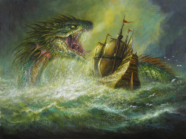 , 'Serpent of the Golden Sea,' 2018, Spoke Art