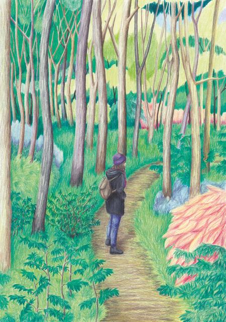 , 'Annika in the greenwood,' 2018, Kolja Kramer Fine Arts
